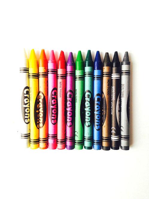 Crayons gras de coloriage pour enfant, petite boîte Gang de Requins, occasion