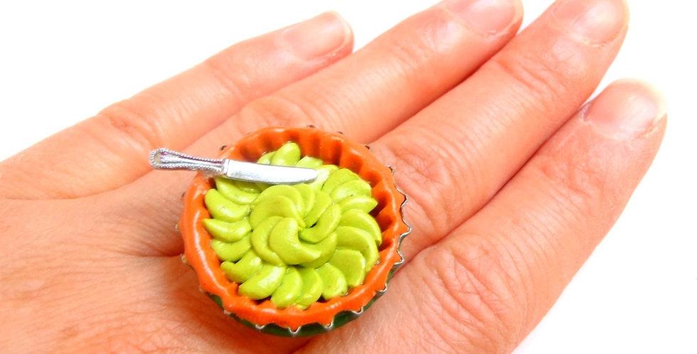 Bague LA TARTE AUX POMMES, miniature