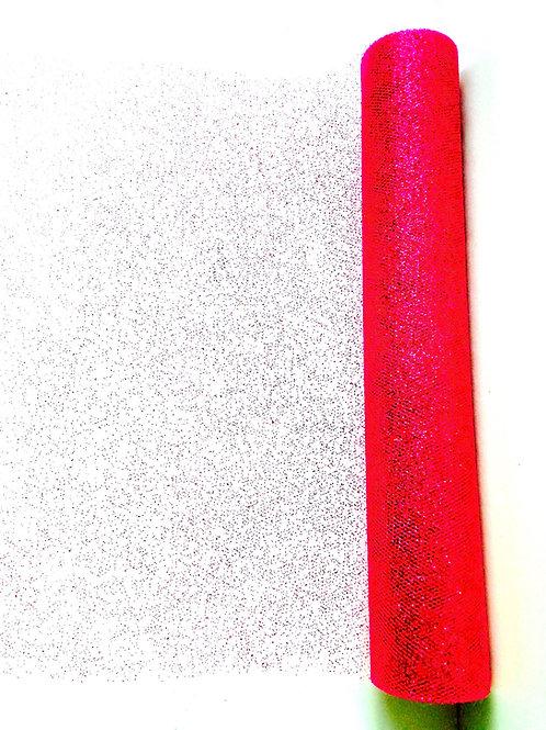 tissu de fête résille rose fuchsia