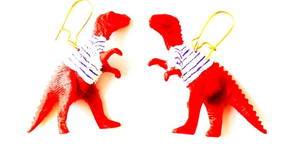 Boucles d'oreilles LES JUMEAUSORES, dinosaures marinières