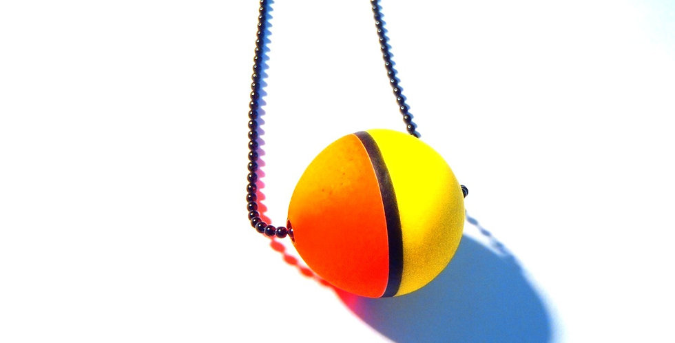 Collier FLOTTEUR FLUO, noir, jaune, orange