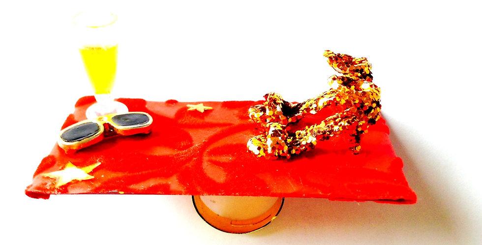 Bague LA STAR, tapis rouge chaussures miniatures