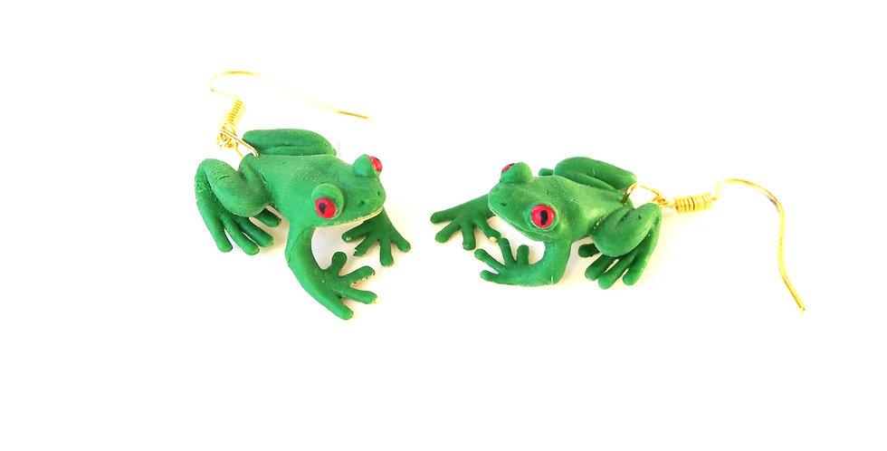 Boucles d'oreilles LES FROGGIES, miniatures