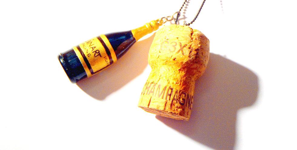 Collier QU'EST-CE QU'ON FÊTE ?? champagne