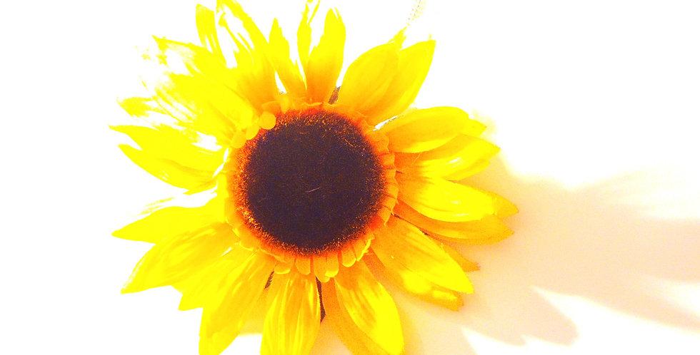 Sautoir L'ÉTÉ, fleur de tournesol géante