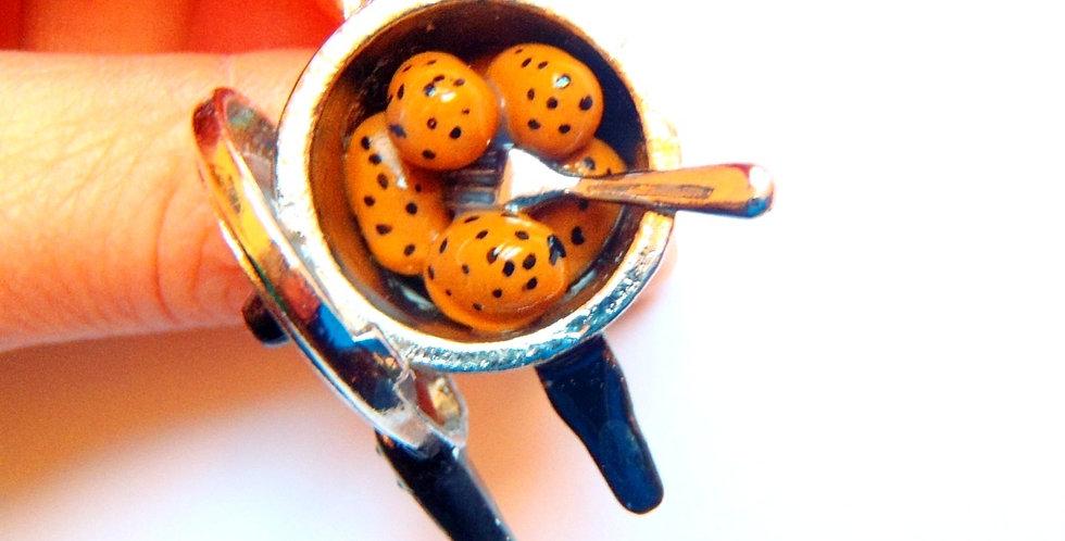 Bague LES PATATES, pommes de terre rondes miniatures
