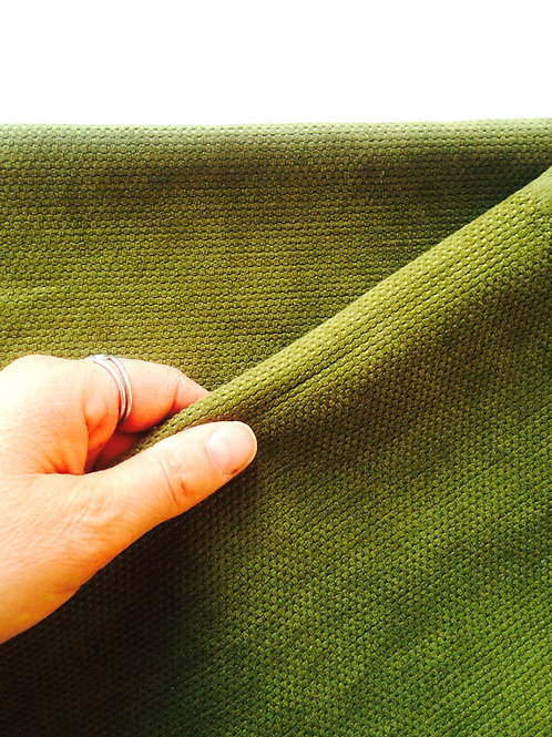 Toile kaki tapissière, bande de 168 x 30 cm , chute de tissu