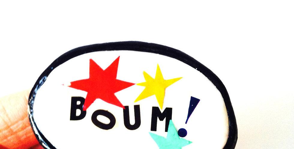 Broche BOUM !! bulle BD