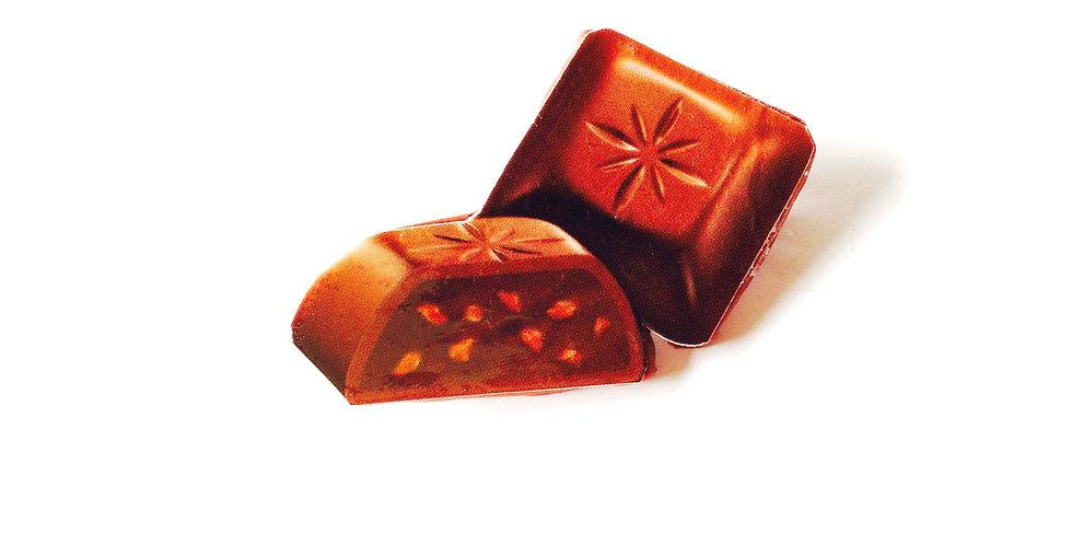 Broche CHOCOLAT PRALINÉ, collage