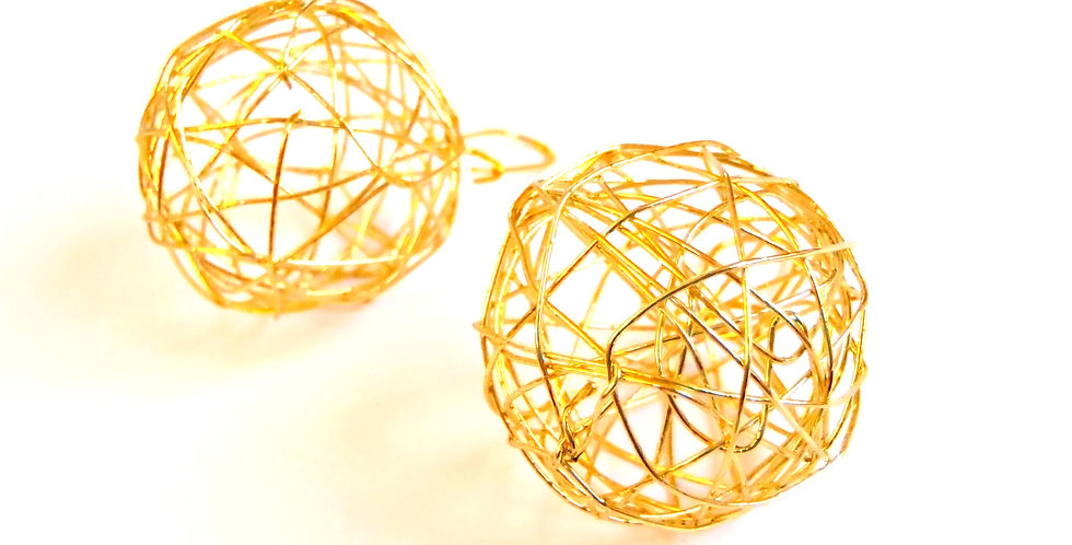 Boucles d'oreilles FOUILLIS, dorées