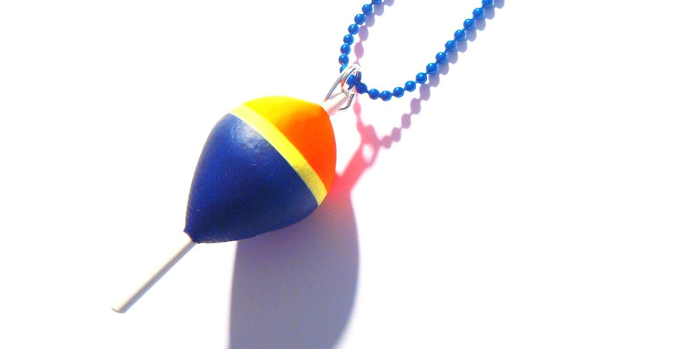 Collier FLOTTEUR FLUO, bleu marine, orange