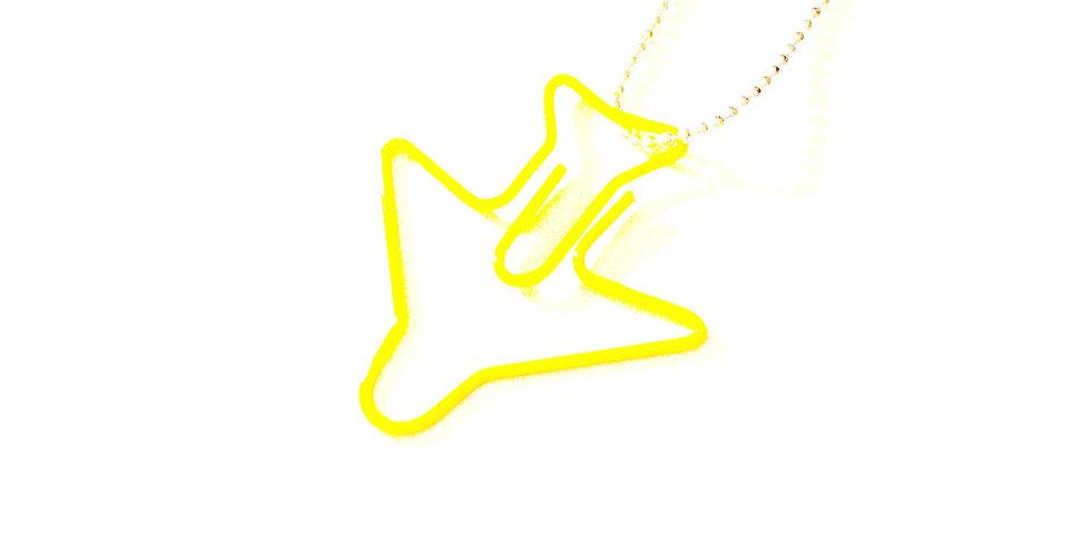 Sautoir EN AVION, SIMONE !! avion jaune