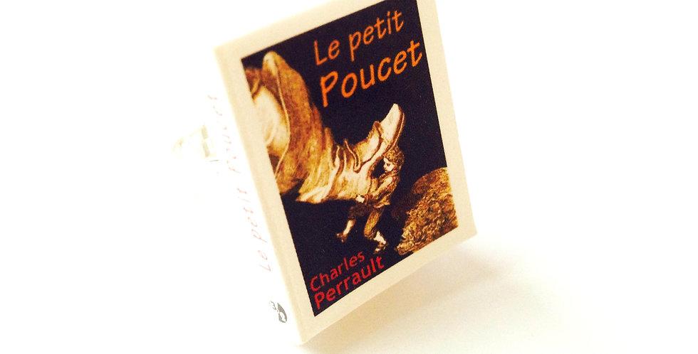 Bague mini livre LE PETIT POUCET, ajustable