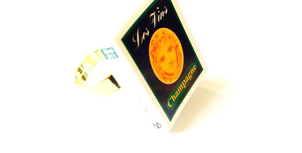 Bague mini-livre CHAMPAGNE, miniature