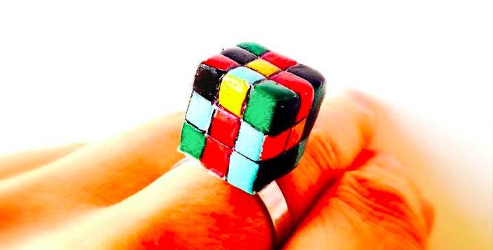 Bague LE MACHIN-CHOSE, jeu miniature, ajustable