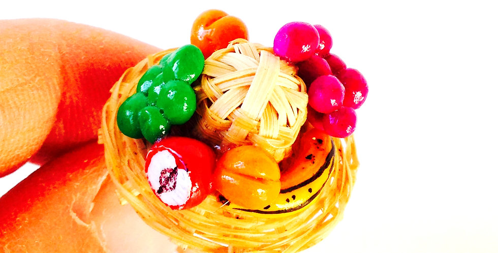 Bague FRUITS D'AUTOMNE, fruits miniatures