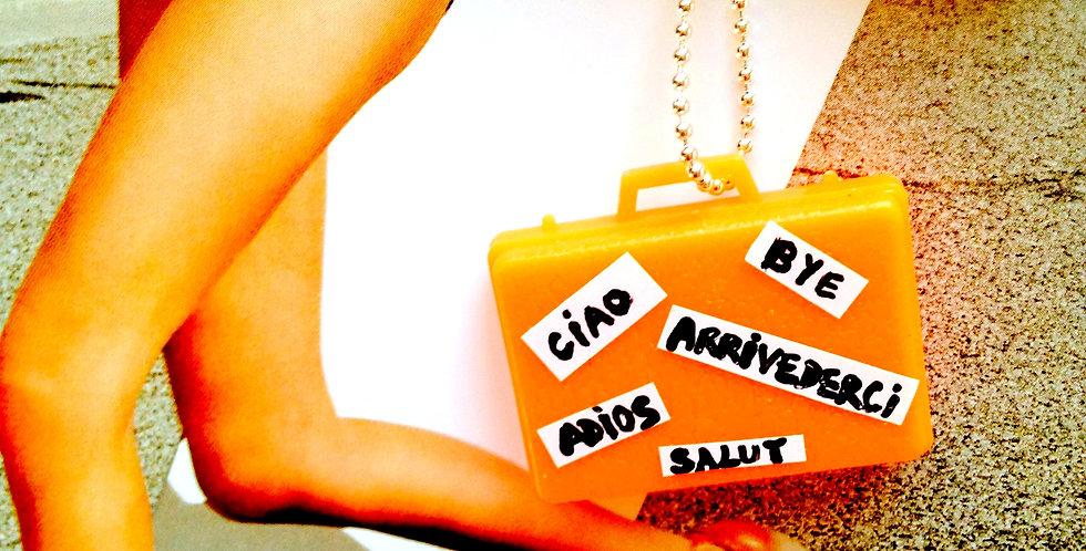 Sautoir ADIOS AMIGOS, valise miniature