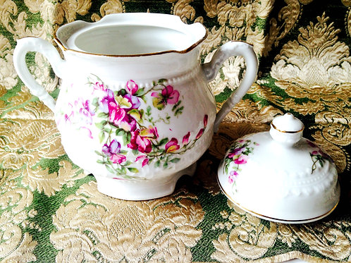 Sucrier Ancien Limoges Malbec / Antique sugar bowl Limoges Malbec