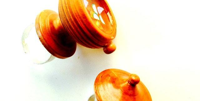 Bague double LA SOUPIÈRE, en bois et résine, bagues ajustables