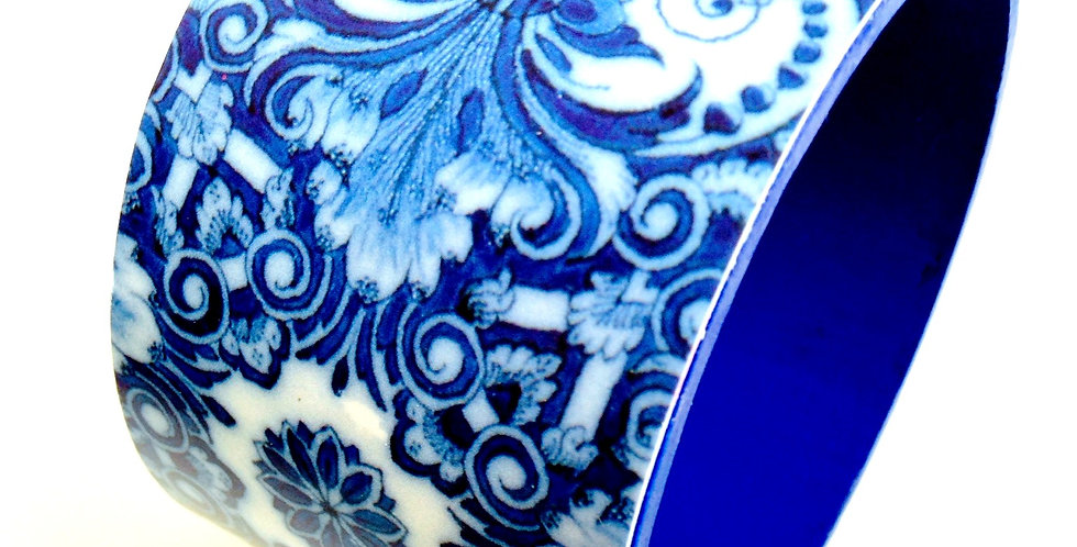 Bracelet BUONANOTTE, arabesques bleues