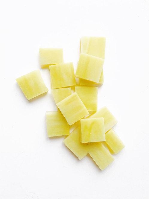 Tesselles de Mosaïque verre 1x1 cm jaunes 10grs