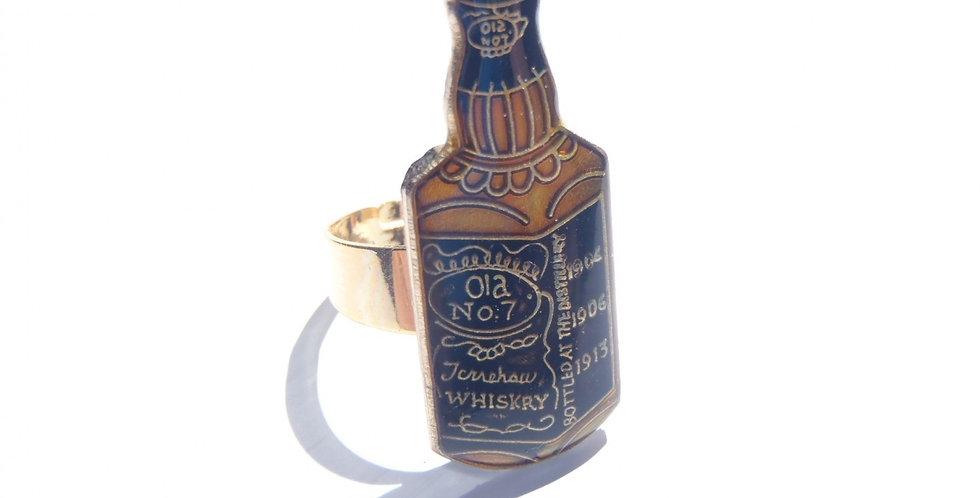Bague CÉLIBATAIRE, bouteille de whisky