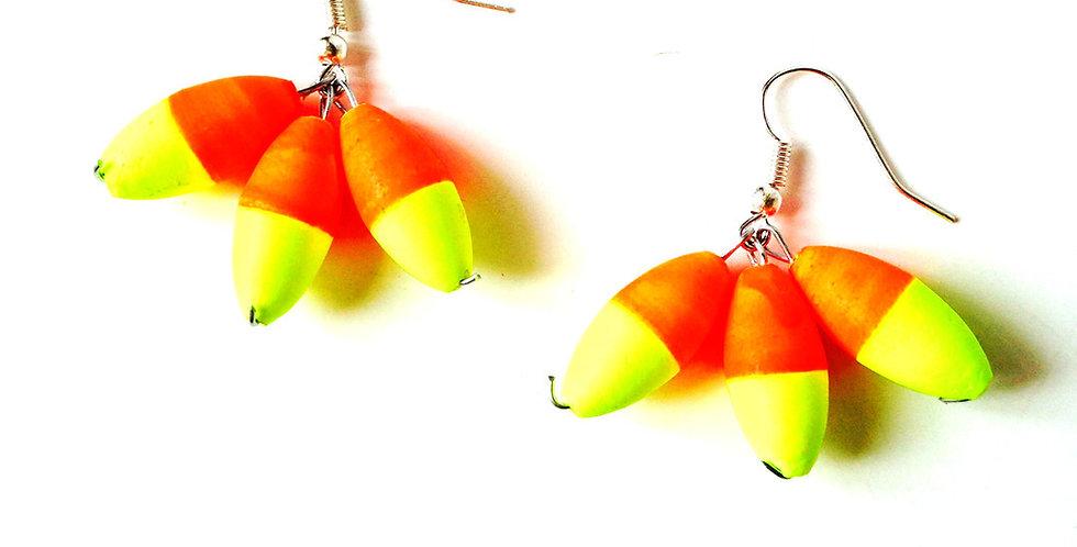 Boucles d'oreilles Fluo TROIS GRAINS