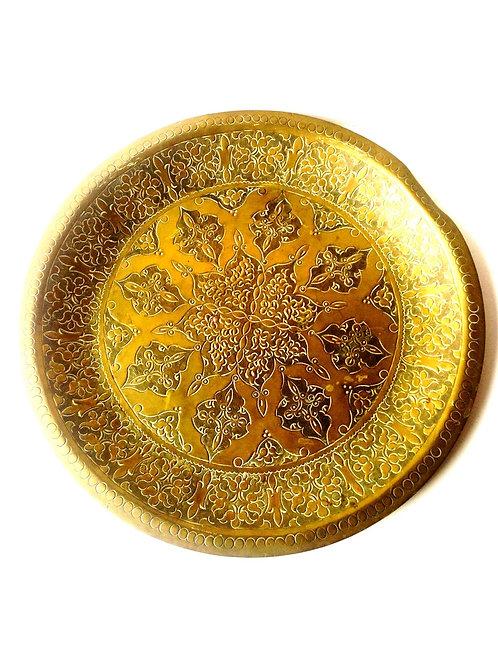 Plateau oriental , martelé gravé, ciselé, origine Afrique du Nord Maghreb