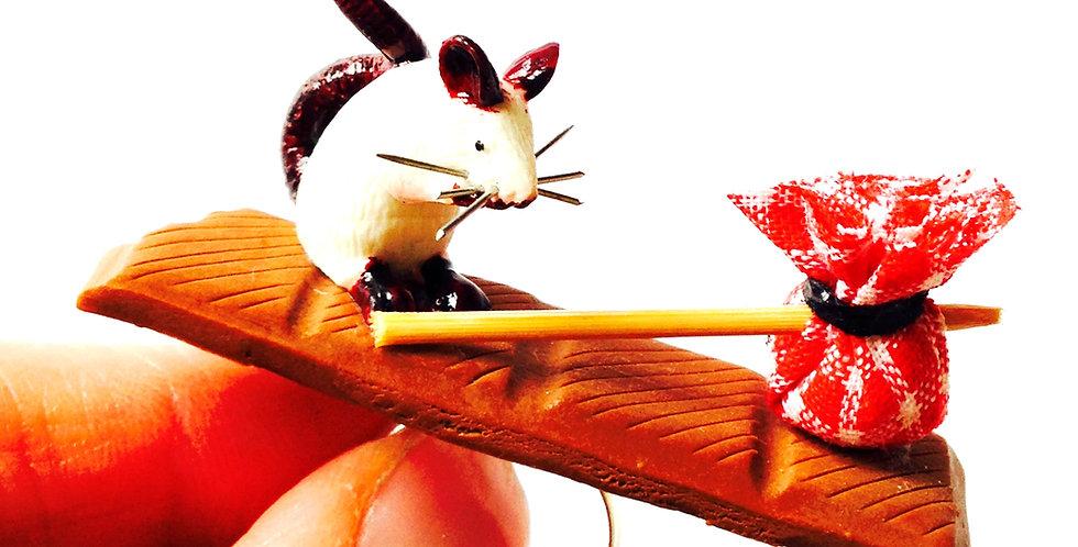 Bague LE VOLEUR DE CHOCOLAT, rat miniature