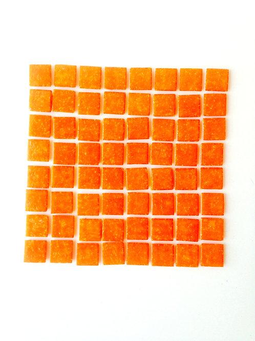 Tesselles de Mosaïque pâte de verre 2 x 2 cm orange mandarine, 200 grs