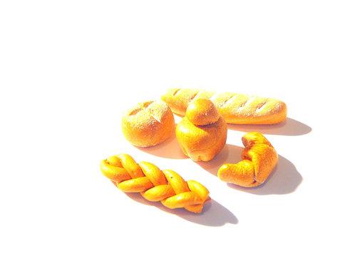 Lot de miniatures LA BOULANGERIE, pain, croissant, brioches