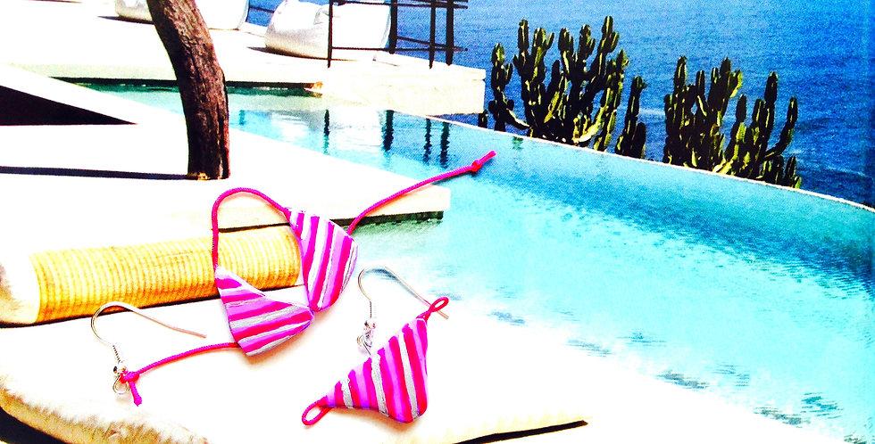 Boucles d'oreilles LE CLUB DES MILLIARDAIRES, bikini miniature
