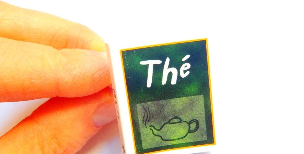 Bague MINI LIVRE, le thé, miniature