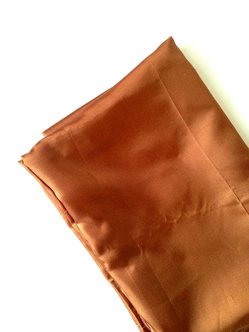 Tissu doublure Marron, tissu fin satiné  188 x 68 cm