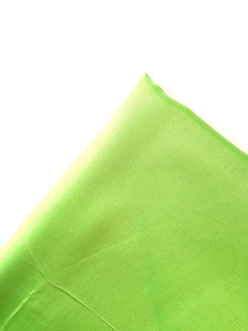 Tissu doublure Vert Pomme tissu fin satiné  140 x 67 cm