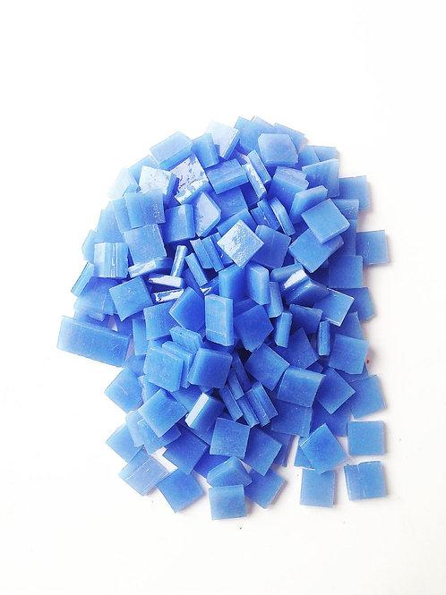 Tesselles de Mosaïque verre 1x1 cm bleues 130 grs
