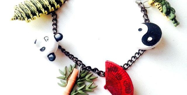 Bracelet LE VOYAGE EN CHINE, petits charms