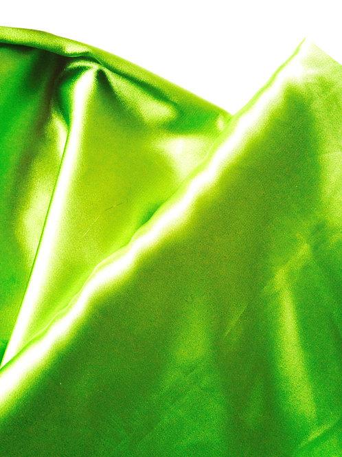 Grand coupon de tissu satin vert pomme, 3m x 1,40m