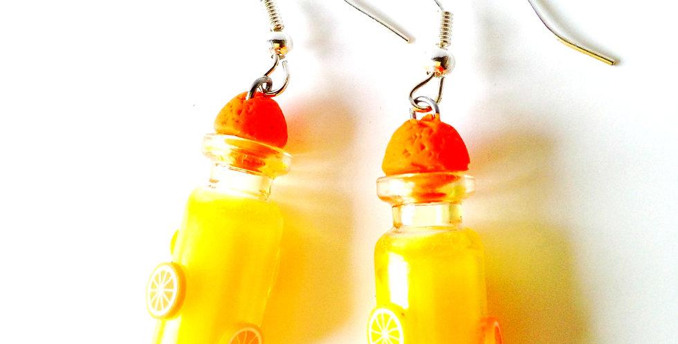 Boucles d'oreilles LADY MARMELADE, orange