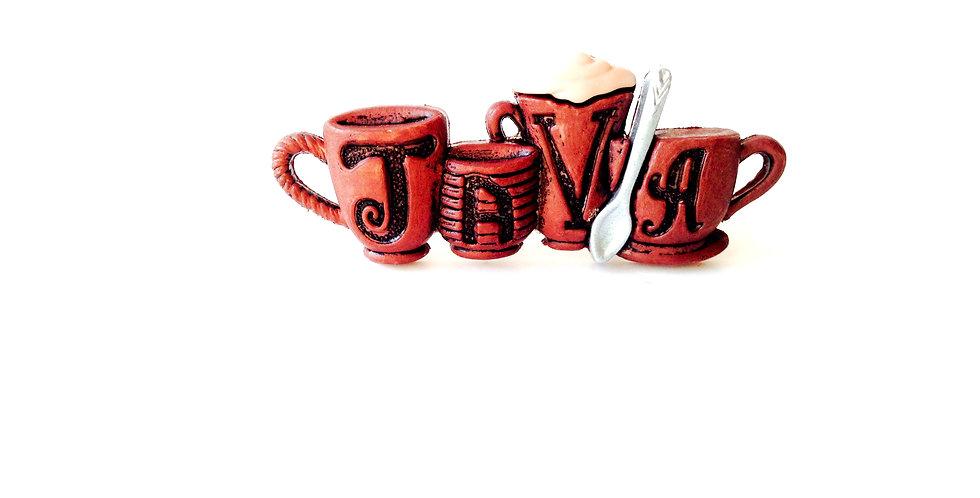 Bague CAFÉ JAVA ! anneau ajustable couleur bronze