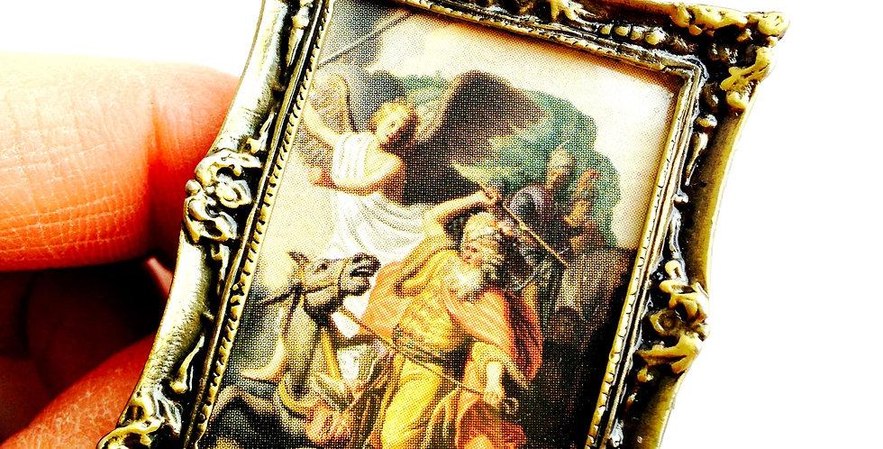 Bague LE REMBRANDT, tableau miniature