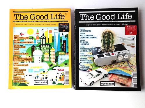 Lot de 2 magazines THE GOOD LIFE magazine français lifestyle vintage