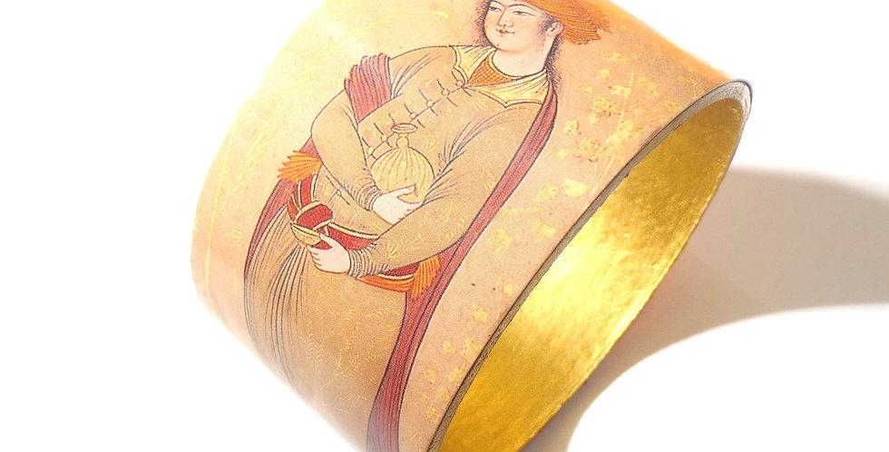 Bracelet SULTAN, beige et or