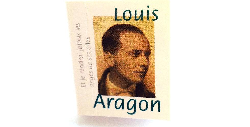 Bague mini livre, LOUIS ARAGON, ajustable
