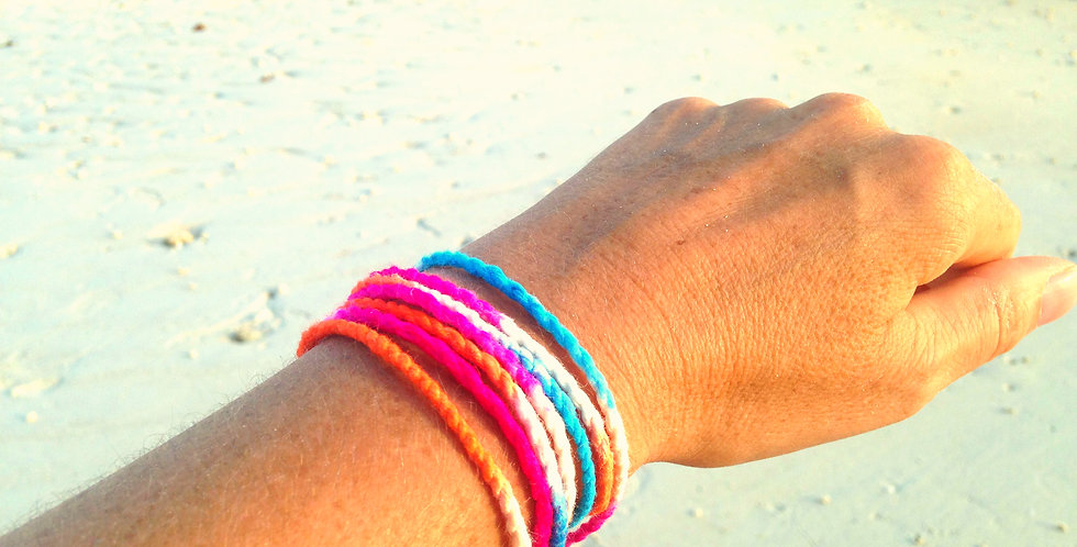 Bracelet BEACH BABE, tie and dye