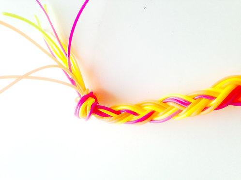 Fil de scoubidou assortiment - Lot de 10 brins, longueur environ 80 cm