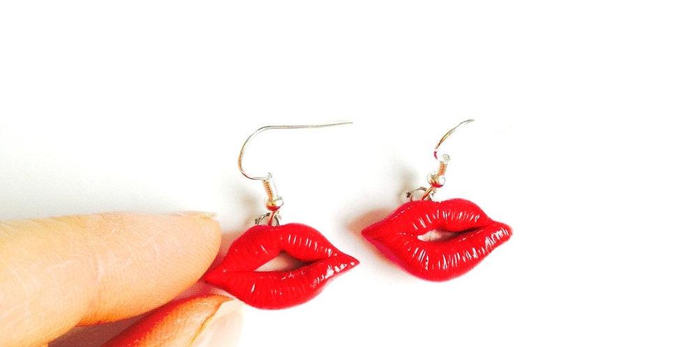 Boucles d'oreilles LUSH LIPS, rouges