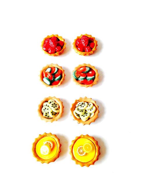 Tartelettes miniatures : LOT DE 8 pour vitrine, maison de poupée, bijoux, etc.