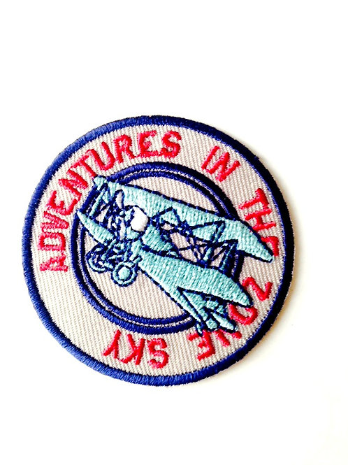 Patch brodé Thermocollant rond, aviateur