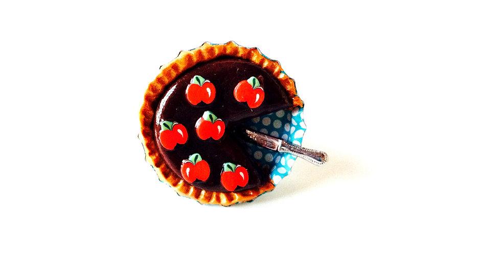 Bague tartelette chocolat-pommes